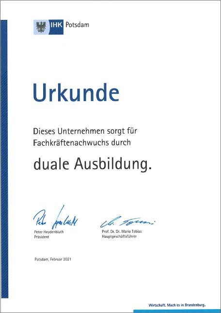 IHK-Zertifikat 2021